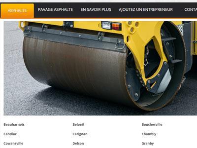 Asphalte Rive-Sud: répertoire des compagnies d'asphalte