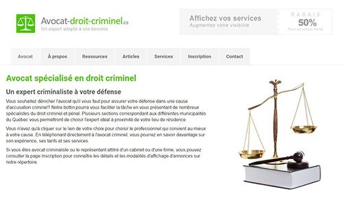 Avocat spécialisé en droit criminel