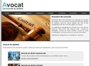 Avocat en droit commercial du Québec classés par ville