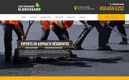 Les Pavages M.Brossard : pavage d'asphalte sur la Rive-Sud